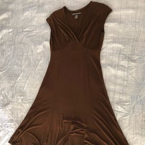 Jones wear brown jersey knit dress